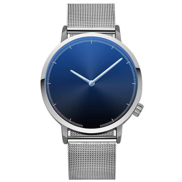 The Stainless Timepiece - Blue w/Silver Band - Watch - Deal Builder