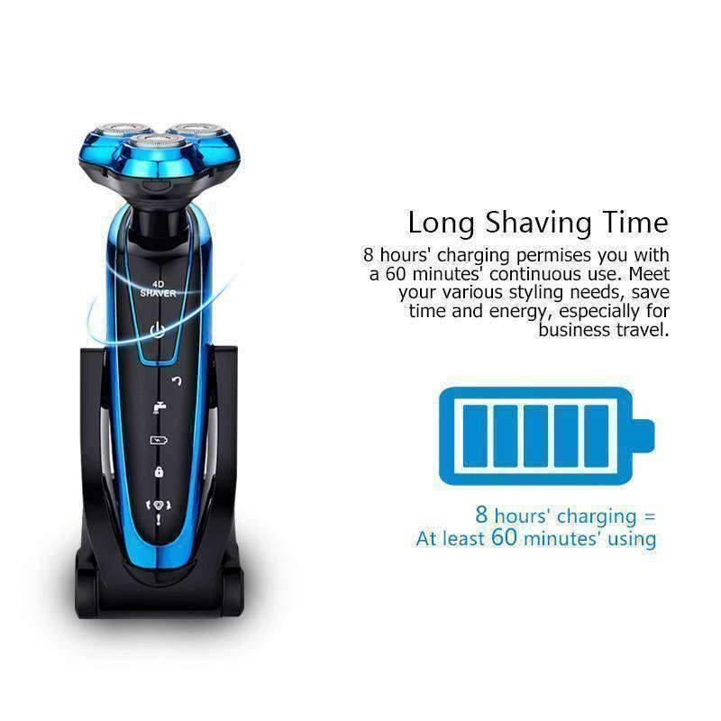 Tinton Life Men Washable Rechargeable Electric Shaver Electric Shaving Beard Machine Razor - - Shaving & Hair Removal - Deal Builder