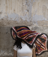 Load image into Gallery viewer, Upcycled Silk Head/ Face Mask Scarf