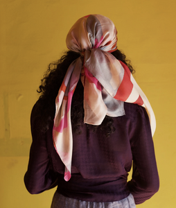 Upcycled Silk Head/ Face Mask Scarf