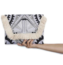Load image into Gallery viewer, Fringe Art Deco Clutch