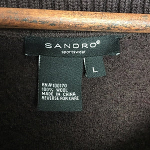 Sandro Sportswear Cropped 100% Wool Jacket