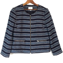 Load image into Gallery viewer, Ann Taylor LOFT Zippered Cropped Jacket