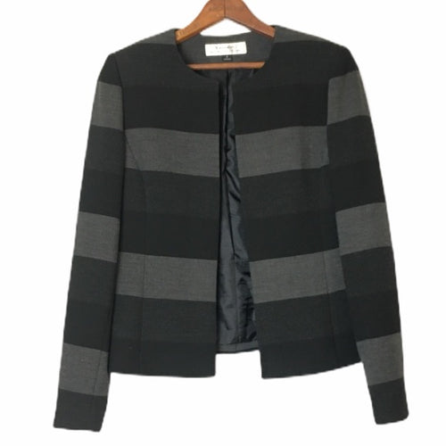 Tahari Striped Cropped Jacket