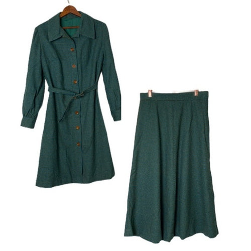 Vintage 1960's Chinese Skirt And Jacket Set