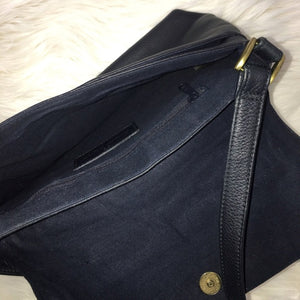 Etienne Aigner Vintage Leather Navy Shoulder Bag