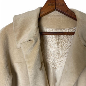 Vintage 1960's Chinese Silk Lined Teddy Coat
