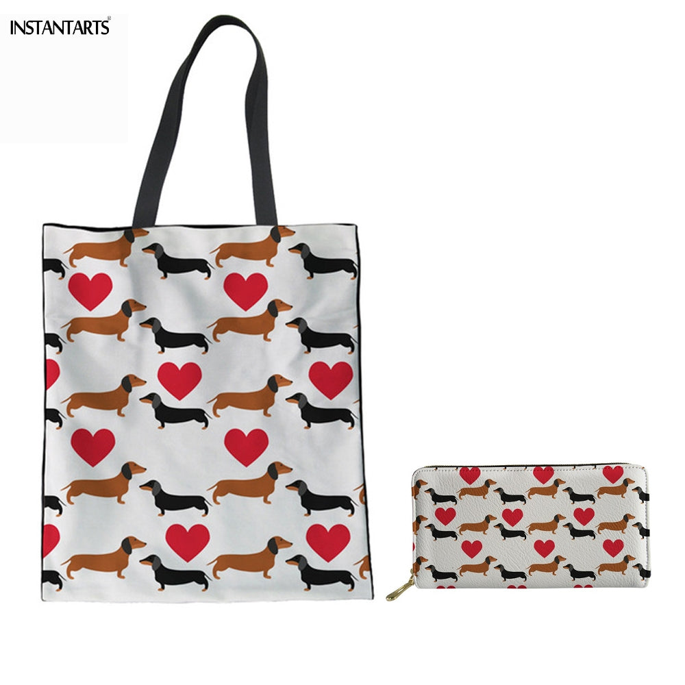 Doxie Tote With Matching Wallet