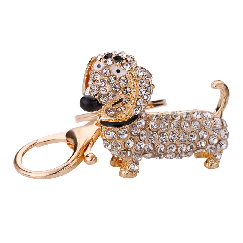 Doxie Rhinestone Key Chain/Handbag Decor