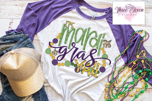 Mardi Gras Y'all -Adult Shirt