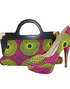 African Wax Print Fabric handbag and Shoes