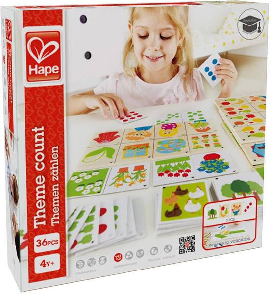 Hape Theme Count Kid's Math Skills Card Game
