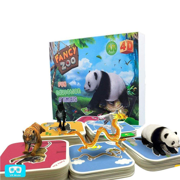 EDU TOYS INDIA Fancy Zoo 4D Augmented Reality Animal Flash Cards (Set of 68 Cards)