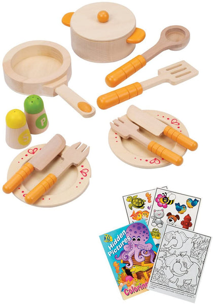 Hape Gourmet Kitchen Starter Wooden Play Food Set