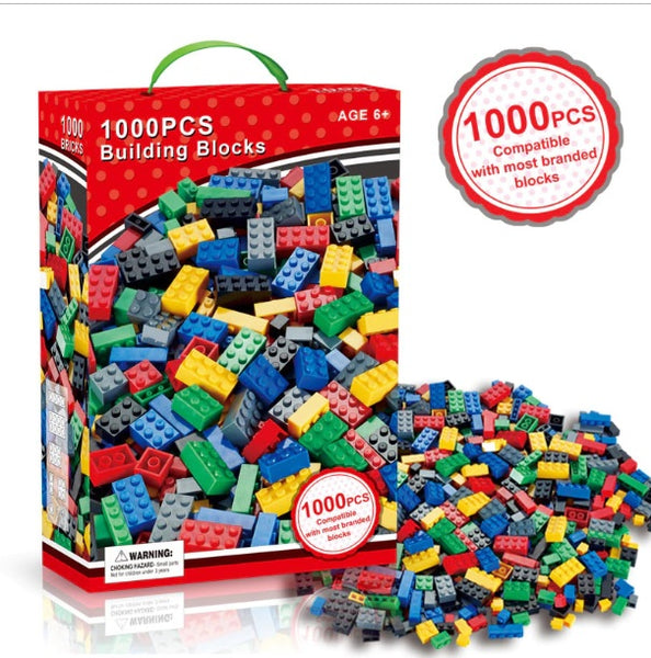 Building Blocks Bricks Pegs Educational Game (1000 Pieces - compatible with Lego)