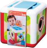 Hape Shape Sorting Cube Classic Wooden Box