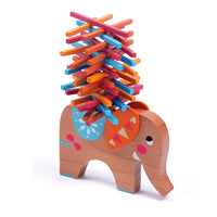 MIDEER Elephant Stacking Building Wooden Balance Sticks Game for Kids - Pack of 40 Pcs