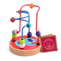MIDEER Mini Wire Bead Wooden Maze (9.5 x 9.5 x 12.5 cm)