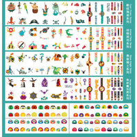 MIDEER Fantastic Voyage Temporary Tattoos - Set of 234 Tattoos Including Pirates, Animals, Knights and Magicians