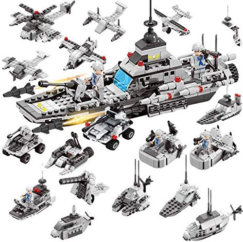 EDU TOYS INDIA War Ship Model 17 Play Methods Deformation Building Blocks Toys - 419 Pieces