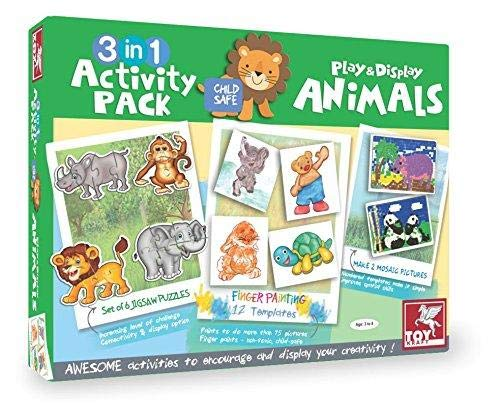 3 IN 1 ACTIVITY PACK ANIMALS