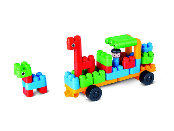 HAPE PolyM Zoo Keeper 'N Cars Building Blocks (40 Piece)