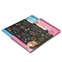 EDU TOYS INDIA Rainbow Scratch Art Notebook (Set of 2)