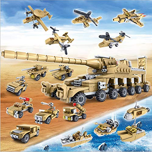 EDU TOYS INDIA Military Super Tank Weapons Building Blocks Toys - 544 Pieces