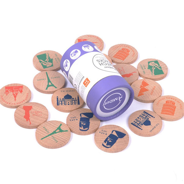 EDU TOYS INDIA Wooden Match Stacks Educational Memory & Pairing Game