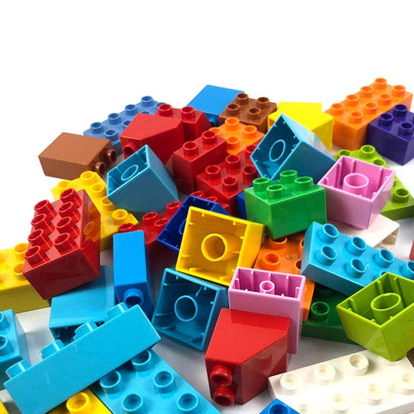 130 Pieces Large Building Blocks Particles (Same size as Lego Duplo)