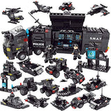 Police Swat with Car and Gun Building Blocks Toys - 750 Pieces