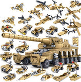 Military Super Tank Weapons Building Blocks Toys - 544 Pieces