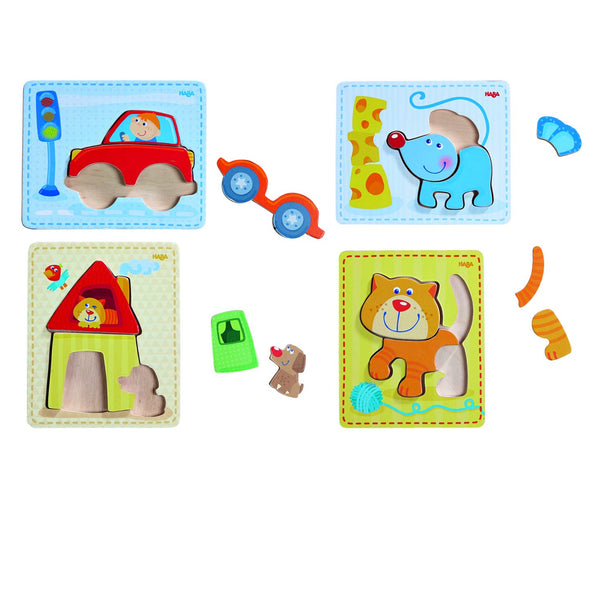 HABA Puzzles Set Preschool Educational Learning Toys Set for Boys and Girls | Cognitive Development