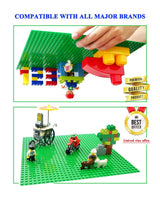 "Edu Toys Base Plate Board for Building Blocks Bricks (10"" x 10"") - Compatible with Lego"