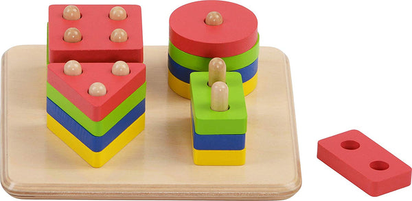 HABA Wooden Sorting Board Geo Game, Multi Color | Mathematics