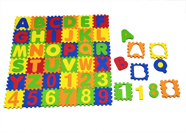 EDU TOYS INDIA Kids Children Alphabet Numbers Soft Learning Eva Foam Mat - Multi Colour