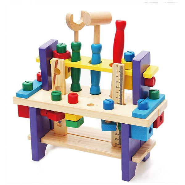 EDU TOYS INDIA Wooden Construction Toy Pounding Bench