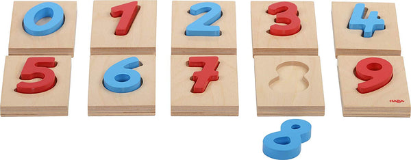HABA Numeric Wooden Blocks Shape Board Puzzles Games for Toddlers Ages 3 Years | Mathematics