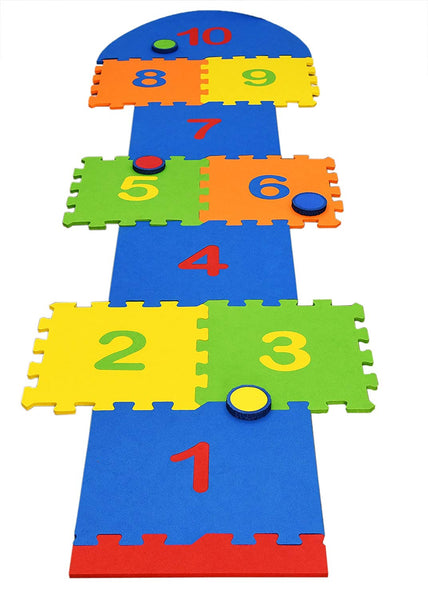 EDU TOYS INDIA Eva Foam Hopscotch Play Mat -Multi Colour