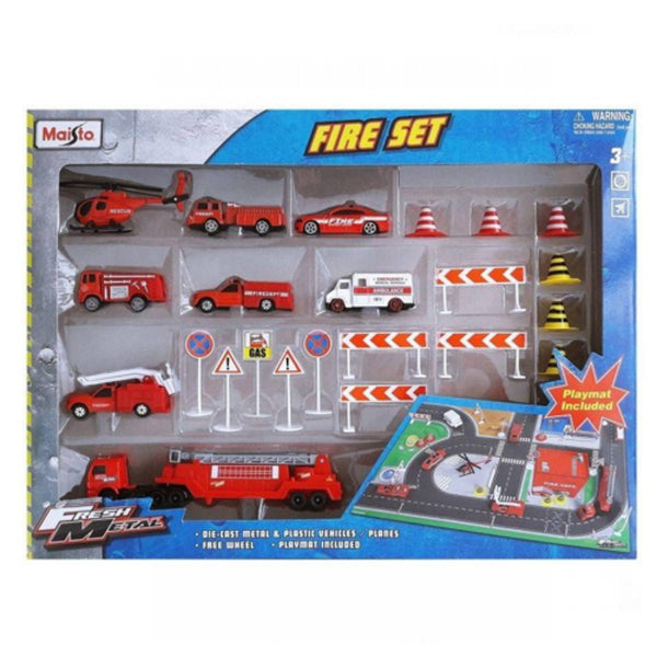 Fresh Metal Fire Station Playset