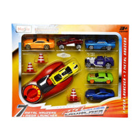 Metal Kruzerz 7 Car Race Launcher Set