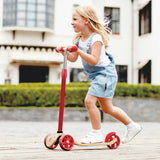 Hape Street Surfer | Wooden Lightweight 3 Wheel Kids Push Scooter for Kids