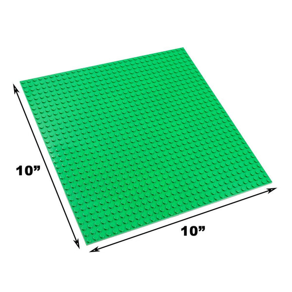 "Base Plate Board for Building Blocks Bricks (10"" x 10"") - Compatible with Lego Classic"