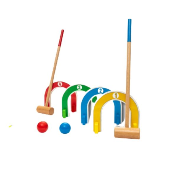 Toddler's Colorful Croquet Set