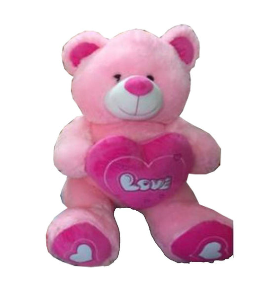BEAR WITH RED HEART N RED PAW PINK