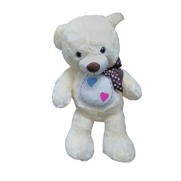 BEAR WITH RIBBON EMB HEART