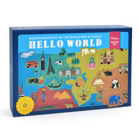 MiDeer Hello World Map 148 Magnetic Stickers and Puzzle