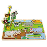 HAPE WILD ANIMAL PUZZLE & PLAY