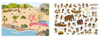 MIDEER Reusable Stickers - Humanities - Set of 180 + Reusable Stickers with 4 Background Sheets of Ancient, Pirates, Medieval and Museum