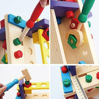 Wooden Construction Toy Pounding Bench